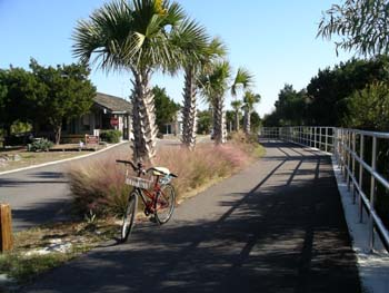Bike path at entrance